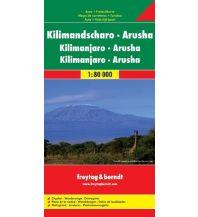 f&b Straßenkarten f&b Auto + Freizeitkarte Kilimandscharo - Arusha 1:80.000 Freytag-Berndt und ARTARIA