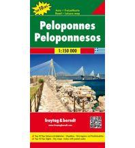 f&b Straßenkarten freytag & berndt Auto + Freizeitkarte Griechenland, Peloponnes 1:150.000 Freytag-Berndt und ARTARIA