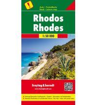 f&b Straßenkarten freytag & berndt Auto + Freizeitkarte Griechenland, Rhodos 1:50.000 Freytag-Berndt und ARTARIA