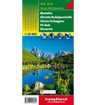 f&b Wanderkarten WK 374 Montafon - Silvretta Hochalpenstraße - Schruns-Tschagguns - Piz Buin - Klostertal, Wanderkarte 1:50.000 Freytag-Berndt und ARTARIA