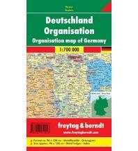 Europa Wandkarte: Deutschland Organisation Metallbestäbt 1:700.000 Freytag-Berndt u. Artaria KG Planokarten