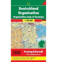 Europa Wandkarte: Deutschland Organisation 1:700.000 Freytag-Berndt u. Artaria KG Planokarten