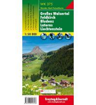 f&b Wanderkarten WK 375 Großes Walsertal - Feldkirch - Bludenz - Laterns - Liechtenstein, Wanderkarte 1:50.000 Freytag-Berndt und ARTARIA