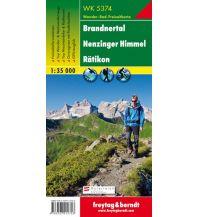 f&b Wanderkarten WK 5374 Brandnertal - Nenzinger Himmel - Rätikon, Wanderkarte 1:35.000 Freytag-Berndt und ARTARIA