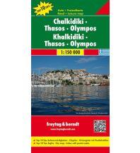 f&b Straßenkarten freytag & berndt Auto + Freizeitkarte Griechenland, Chalkidiki - Thasos - Olympos 1:150.000 Freytag-Berndt und ARTARIA