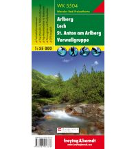 f&b Wanderkarten WK 5504 Arlberg - Lech - St. Anton am Arlberg - Verwallgruppe, Wanderkarte 1:35.000 Freytag-Berndt und ARTARIA