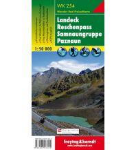 f&b Wanderkarten WK 254 - Landeck, Reschenpass, Samnaungruppe, Paznaun - Wanderkarte 1:50.000 Freytag-Berndt und ARTARIA