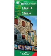 f&b Straßenkarten Kroatien Küste Nord - Welt Kompakt Serie Freytag-Berndt und ARTARIA