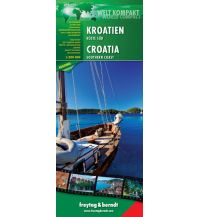 f&b Straßenkarten Kroatien, Küste Süd, Autokarte 1:200.000 Freytag-Berndt und ARTARIA