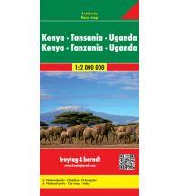 f&b Straßenkarten f&b Autokarte Kenya - Tansania - Uganda - Ruanda 1:2 Mio. Freytag-Berndt und ARTARIA