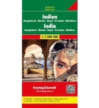 f&b Straßenkarten f&b Autokarte Indien - Nepal - Bangladesch - Bhutan - Sri Lanka 1:2.500.000 Freytag-Berndt und ARTARIA