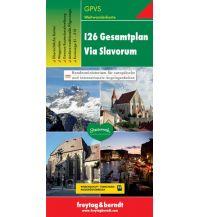 f&b Wanderkarten I26 Gesamtplan Via Slavorum, Weitwanderkarte 1.500.000 Freytag-Berndt und ARTARIA