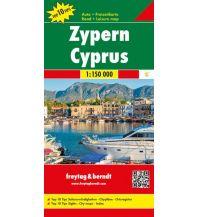 f&b Straßenkarten Zypern, Top 10 Tips, Auto- & Freizeitkarte 1:150.0000 Freytag-Berndt und ARTARIA