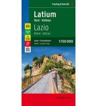 f&b Straßenkarten freytag & berndt Auto + Freizeitkarte Latium -  Rom - Vatikan 1:150.000 Freytag-Berndt und ARTARIA