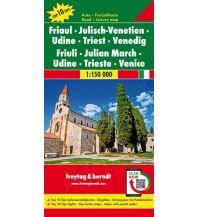 f&b Straßenkarten freytag & berndt Auto + Freizeitkarte Friaul-Julisch-Venetien, Udine, Triest, Venedig 1:150.000 Freytag-Berndt und ARTARIA