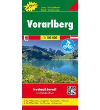 f&b Straßenkarten Vorarlberg, Auto- & Freizeitkarte 1:100.000 Freytag-Berndt und ARTARIA