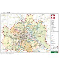 Österreich Wien politisch - A3, Planokarte 1:85.000 Freytag-Berndt und ARTARIA