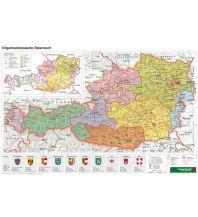 Schulhandkarten Österreich Organisiation - A3, Planokarte 1:1.300.000 Freytag-Berndt und ARTARIA
