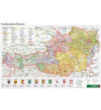 Schulhandkarten Österreich Verwaltung - A3, Planokarte 1:1.300.000 Freytag-Berndt und ARTARIA