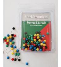 Pins und Fähnchen Markiernadeln, Bunt Freytag-Berndt u. Artaria KG Planokarten