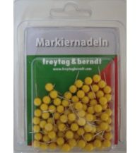 Pins und Fähnchen Markiernadeln, Gelb Freytag-Berndt u. Artaria KG Planokarten