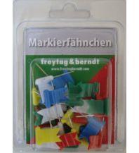 Pins und Fähnchen Markierfähnchen wehend, Bunt Freytag-Berndt u. Artaria KG Planokarten