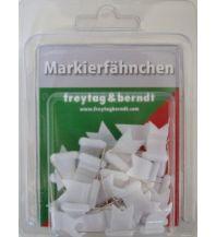 Pins und Fähnchen Markierfähnchen wehend, Weiß Freytag-Berndt u. Artaria KG Planokarten