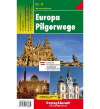 f&b Wanderkarten Europa Pilgerwege, Weitwanderkarte 1:2 Mio. - 1:3,5 Mio. Freytag-Berndt und ARTARIA
