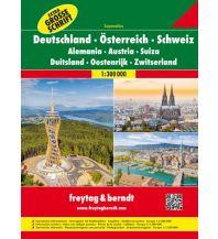 f&b Straßenkarten Deutschland - Österreich - Schweiz, Autoatlas 1:300.000 Freytag-Berndt und ARTARIA