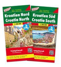 f&b Straßenkarten freytag & berndt Auto + Freizeitkartenset Kroatien Nord und Süd 1:200.000 Freytag-Berndt und ARTARIA