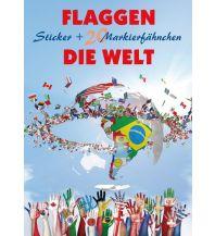 Pins und Fähnchen Flaggen - Die Welt Freytag-Berndt und ARTARIA
