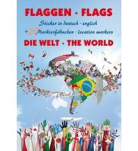 Pins und Fähnchen Flaggen Aufkleber - Die Welt / Flags - The world Freytag-Berndt und ARTARIA