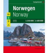 f&b Straßenkarten Norwegen, Autoatlas 1:250.000/1:400.000 Freytag-Berndt und ARTARIA