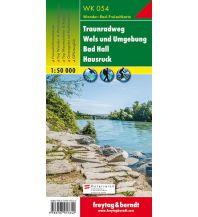 f&b Wanderkarten WK 054 Traunradweg - Wels und Umgebung - Bad Hall - Hausruck, Wanderkarte 1:50.000 Freytag-Berndt und ARTARIA