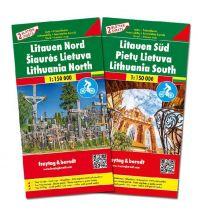 f&b Straßenkarten Litauen, Autokarten Set 1:150.000 Freytag-Berndt und ARTARIA