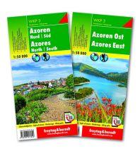 f&b Wanderkarten Azoren Set, Wanderkarte WKP 3, 1:50.000 Freytag-Berndt und ARTARIA
