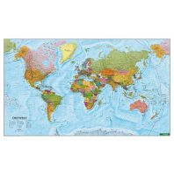 Weltkarten Wandkarte-Metallbestäbt: Weltkarte politisch 1:35.000.000 Freytag-Berndt u. Artaria KG Planokarten