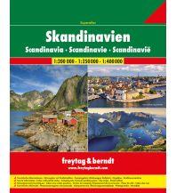 f&b Straßenkarten Skandinavien Superatlas, Autoatlas 1:250.000 - 1:400.000, Spiralbindung Freytag-Berndt und ARTARIA