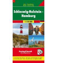 f&b Straßenkarten Schleswig-Holstein - Hamburg, Autokarte 1:150.000, Blatt 1 Freytag-Berndt und ARTARIA