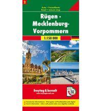 f&b Straßenkarten Rügen - Mecklenburg-Vorpmmern, Autokarte 1:150.000, Blatt 2 Freytag-Berndt und ARTARIA