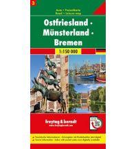 f&b Straßenkarten Ostfriesland - Münsterland - Bremen, Autokarte 1:150.000, Blatt 3 Freytag-Berndt und ARTARIA