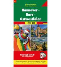 f&b Straßenkarten Hannover - Harz - Ostwestfalen, Autokarte 1:150.000, Blatt 4 Freytag-Berndt und ARTARIA