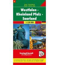 f&b Straßenkarten Westfalen - Rheinland Pfalz - Saarland, Autokarte 1:150.000, Blatt 6 Freytag-Berndt und ARTARIA