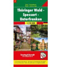 f&b Straßenkarten Thüringer Wald - Spessart - Unterfranken, Autokarte 1:150.000, Blatt 7 Freytag-Berndt und ARTARIA