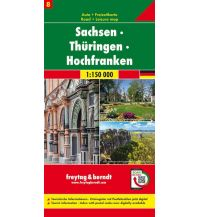 f&b Straßenkarten Sachsen - Thüringen - Hochfranken, Autokarte 1:150.000, Blatt 8 Freytag-Berndt und ARTARIA
