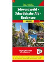 f&b Straßenkarten f&b Auto + Freizeitkarte 9, Schwarzwald - Schwäbische Alb - Bodensee 1:150.000 Freytag-Berndt und ARTARIA