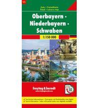 f&b Straßenkarten f&b Auto + Freizeitkarte 11, Oberbayern - Niederbayern - Schwaben 1:150 000 Top 10 Tips Freytag-Berndt und ARTARIA