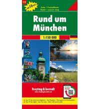 f&b Straßenkarten f&b Auto + Freizeitkarte 12, Rund um München 1:150.000, Top 10 Tips Freytag-Berndt und ARTARIA