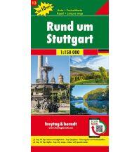 f&b Straßenkarten Rund um Stuttgart, Autokarte 1:150.000, Top 10 Tips, Blatt 13 Freytag-Berndt und ARTARIA
