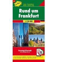 f&b Straßenkarten Rund um Frankfurt, Autokarte 1:150.000, Top 10 Tips, Blatt 14 Freytag-Berndt und ARTARIA